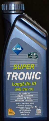 1 Liter Aral Supertronic LongLife III 5W-30 Motoröl