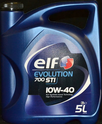 5 Liter ELF EVOLUTION 700 STI 10W-40 Motoröl