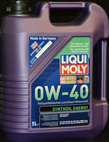 5 Liter Liqui Moly Synthoil Energy 0W-40