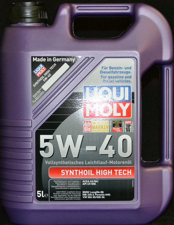 5 liter liqui moly synthoil high tech 5w 40 motor l www. Black Bedroom Furniture Sets. Home Design Ideas