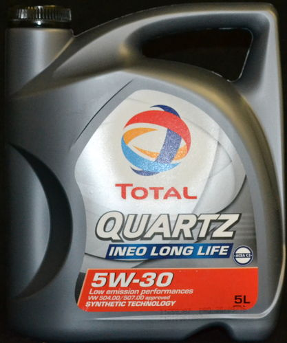 5 Liter Total Quartz Ineo LONG LIFE 5W-30 Motoröl VW 504 00 / 507 00 BMW