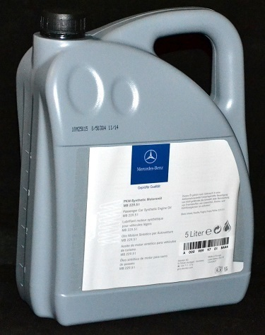 5 Liter ORIGINAL MERCEDES PKW MOTORÖL MB 229.51 MERCEDES BENZ Synthetic ÖL