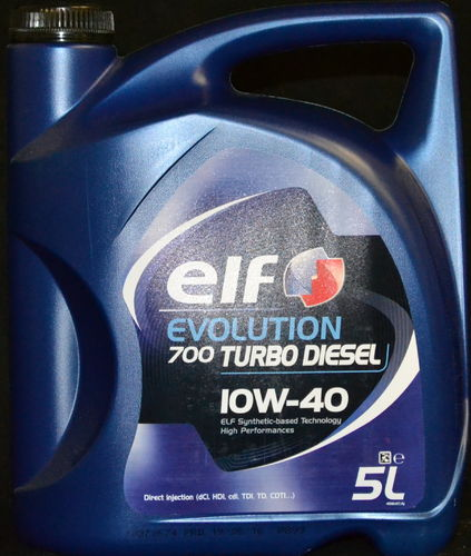5 Liter ELF EVOLUTION 700 Turbo Diesel 10W-40 Motoröl 10W40 A3/B4 Renault VW MB